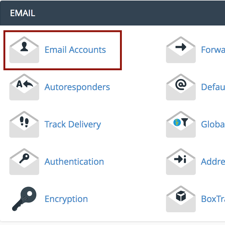 Find Email Accounts in cPanel