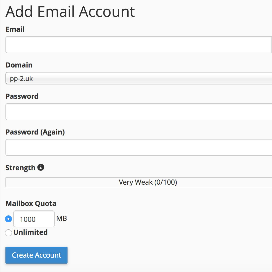 Set up Email Accounts in cPanel